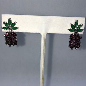 Purple Pineapple earrings